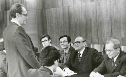 1980, Новосибирск. На заседании Президиума СО АН СССР